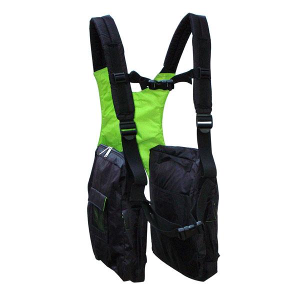 BackTpack 1 in Black / Lime