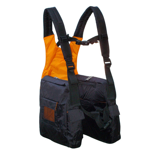 BackTpack 1 in Black / Orange