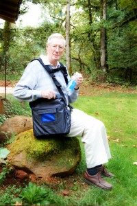 Osteoporosis Sufferers Using BackTpack while seated