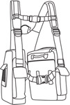 Line drawing of BackTpack
