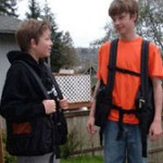 Two teenage boys enjoying their BackTpacks