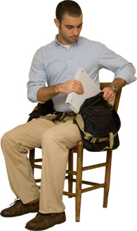 Accessing BackTpack while seated