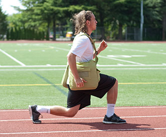 Athletes and Stage Performers Using BackTpack