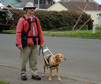 Visually Impaired Person Using BackTpack