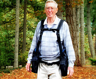 Osteoporosis Sufferers Using BackTpack
