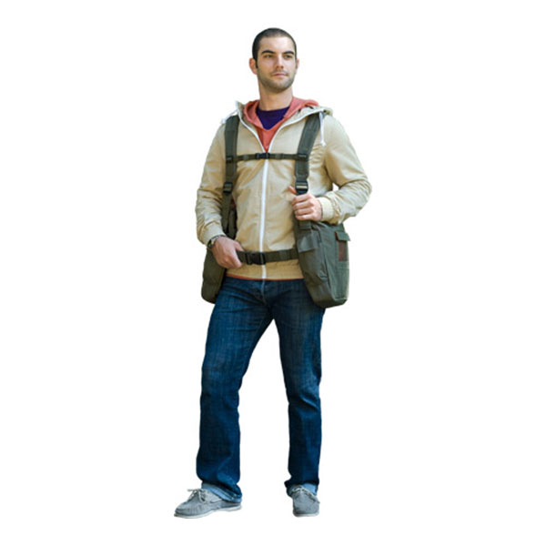 Young man wearing BackTpack