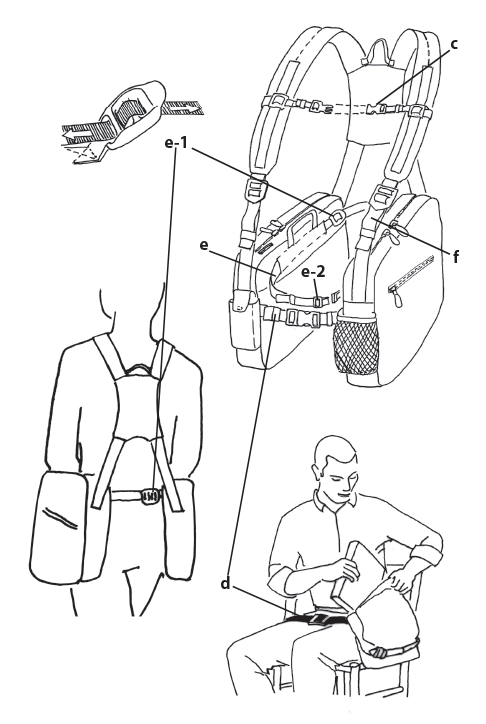 BackTpack 4 Fit & Use Illustration