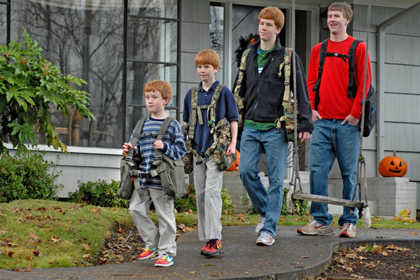 Boys off to school in comfort with BackTpack