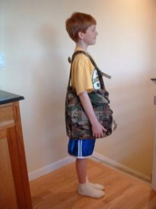 Child using BackTpack