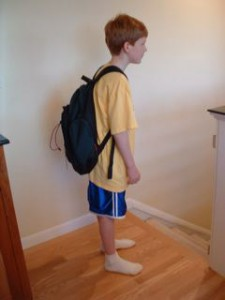 Child Using a Backpack