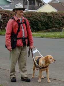 Visually Impaired with BackTpack