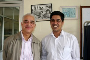 Doctors Ashok and son Bibek Banskota