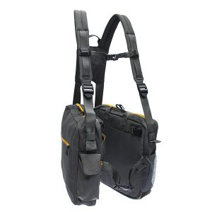 BackTpack 4, the ergonomic Side-bag carrying system shown in Pewter/mimosa