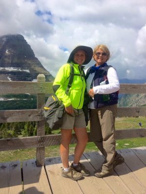 Mother and daughter enjoying their hike in comfort with BackTpack